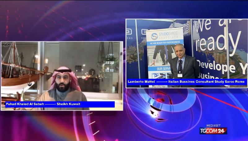 """Expo Italy Kuwait 2020, lo sceicco Khaled Al Sabah apre le porte all'Italia. Lamberto Mattei: """"si apre un percorso nuovo per le nostre imprese"""""""