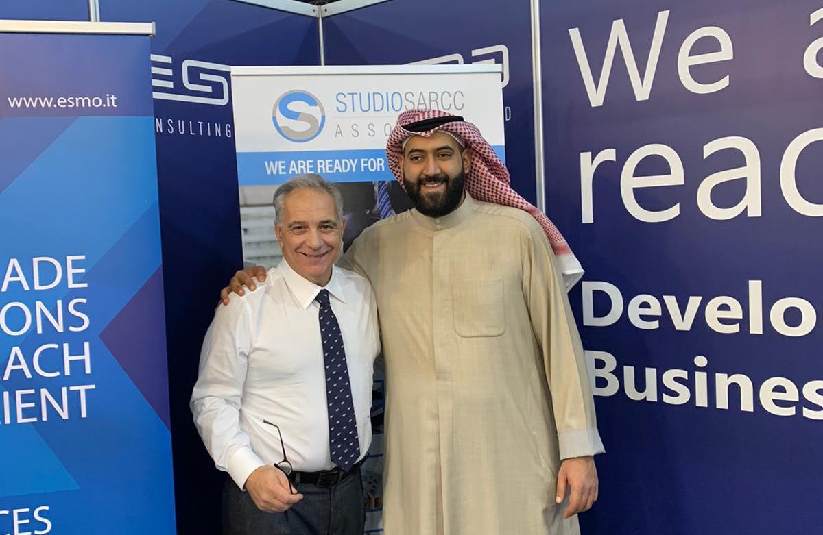 """Kuwait city, incontro-confronto di Lamberto Mattei con lo sceicco Fahad Khaled Al Sabah: """"subito nuovi progetti per la p.m.i."""""""